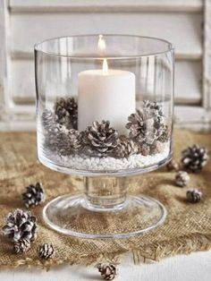 Candle and Pine Cones in Bowl for a winter Table, Christmas Table or just a rustic themed home. Candle and Pine Cones in Bowl for a winter Table, Christmas Table or just a rustic themed home. Noel Christmas, Rustic Christmas, Christmas 2019, Christmas Crafts, Christmas Ornaments, Cheap Christmas, Christmas Candles, Christmas Ideas, Christmas Wedding