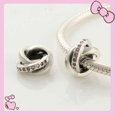 f038780d8 925 Sterling Silver 3 Rings Pink Crystal Pandora Charms beads on sale,for  Cheap,wholesale