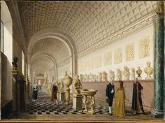 Pehr Hilleström (1732‒1816), The Inner Gallery of the Royal Museum at the Royal Palace, Stockholm, 1796.