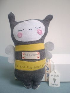 Personalised  Soft Toy Bee Unique Keepsake For children & Babies