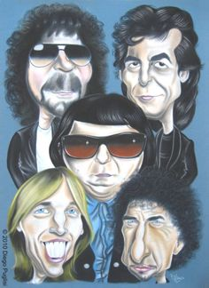 The Traveling Wilburys ~ English–American supergroup consisting of Bob Dylan, George Harrison, Jeff Lynne, Roy Orbison and Tom Petty, accompanied by drummer Jim Keltner Tom Petty, Roy Orbison, George Harrison, Bob Dylan, Beatles, Heavy Metal, Beverly Hills, Jeff Lynne Elo, Liverpool