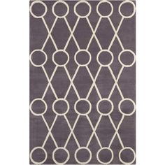 Stella Collection Hand-Tufted Area Rug in Dark Grey & Cream design by... ($396) ❤ liked on Polyvore featuring home, rugs, contemporary wool rugs, beige area rugs, wool rugs, beige rug and cream wool rug