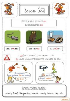 Sons o, ou, an French Lessons, French Language, Teaching Resources, Homeschool, Kids, Study, Learning French, French Tips, Index Cards