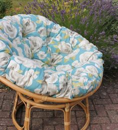 Special Order - Elodie Floral - 5 Colours £265 - £265.00 : Papasanchair.co.uk Papasan Cushion, Papasan Chair, Light Oak, Soft Furnishings, Craftsman, Upholstery, Frames, Cushions, Colours