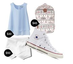 """""""My First Polyvore Outfit"""" by summer-tl on Polyvore featuring Uniqlo, Abercrombie & Fitch, Billabong, Converse, women's clothing, women, female, woman, misses and juniors"""