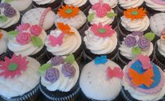 bold colour fancy girly cupcakes