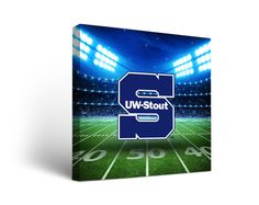 Wisconsin-Stout Blue Devils Football Stadium Canvas Art Square