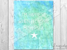 Happiest in the Sea Print- Nursery Art- Baby- Toddler- Nursery Decor- Room Decor- Printable Art- Download