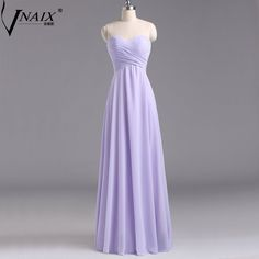 Vnaix BV041 Free Shipping Simple Sweetheart Off Shoulder Pleated Chiffon Long Girls Purple Mint Green Bridesmaid Dresses 2015