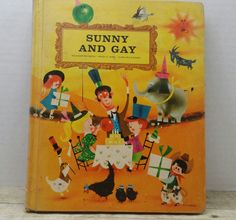Sunny and Gay, 1960, Best of Childrens Literature, school book, vintage kids book by RandomGoodsBookRoom on Etsy