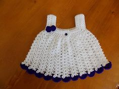 This is a very simple little sundress that can be manipulated in so many ways! If you use sport weight yarn & a 3mm hook, you will gain a preemie size, DK & a 4mm hook will give you a newborn size, DK & a 5mm hook will get you 0-3 months size, & worsted weight & a 5.5mm or 6mm hook will give you 3-6 months size.