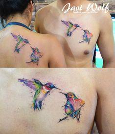 Hummingbird Love Tattoed by @Javi Wolf