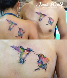 Hummingbird Love Tattooed by javiwolfink