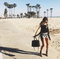 Look lindo da Luisa Accorsi em Santa Monica (EUA)