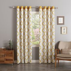 The Reverse Moroccan printed curtains have a white backdrop with a pop of color on our Moroccan tiles. These decorative, stylish curtains feature a triple-weave construction to insulate and darken your space as needed.