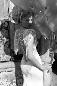 "Galia Lahav Lace Wedding dress, ""Homage to the Sizzling 1920"" collection 2013, model Pearl"