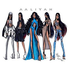llustration by Hayden Williams (@ hayden_williams) - #Aaliyah 15th Anniversary   #Aaliyah15