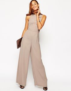 Image 4 ofASOS Jumpsuit with Palazzo Leg and Strap Detail