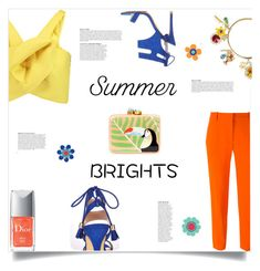 Summer Brights like..... by sofirose on Polyvore featuring polyvore mode style Delpozo STELLA McCARTNEY Miss Selfridge Aranáz Dolce&Gabbana Retrò Anja fashion clothing Summer summerbrights