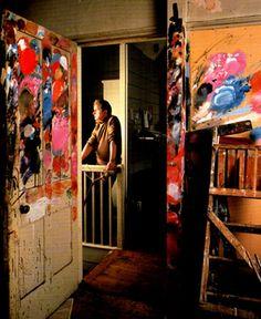 Francis Bacon in studio