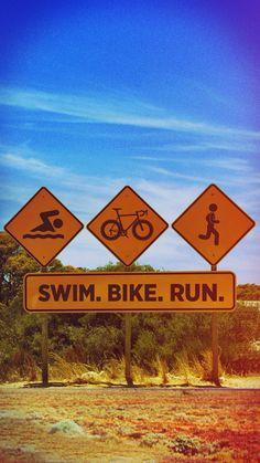 Swim. Bike. Run. iPhone wallpaper