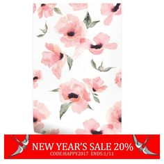 New Year's Floral Wallpaper Watercolor Poppy Flowers Pink Peel & Stick... ($40) ❤ liked on Polyvore featuring home, home decor, home & living, home décor, light pink, wall decals & murals, wall décor, poppy home decor, fabric home decor and floral home decor