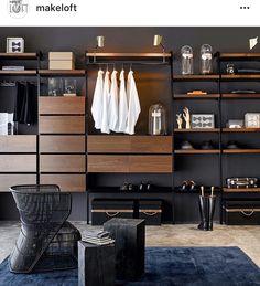 Wardrobe Design Bedroom, Master Bedroom Closet, Wardrobe Closet, Closet Colors, Feature Wall Bedroom, Dressing Room Design, Lofts, Closet Designs, Interior Design Living Room