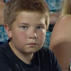 Witness a true stare down master in action. This kid diverted the entire viewership of a baseball game away from the players to LOOK INTO HIS EYES.