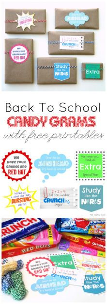 Send your kids back to school with some cheesy candy grams. Free printable included!