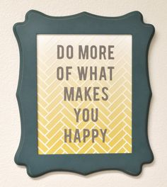 wall quote with ombre herringbone background {free shape of the week}
