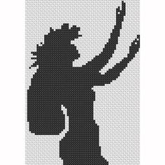 Hula girl cross stitch