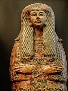 "https://flic.kr/p/Biwm6n | Sarcophagus of 21st Dynasty elite lady named Tentkhonsu Egypt Third Intermediate Period 1025-980 BCE | Tentkhonsu means ""She who belongs to the god Khonsu"" - a name that shows she came from an elite Theban family that staffed the temples of the city's gods. Photographed at the Smithsonian National Museum of Natural History in Washington D.C."