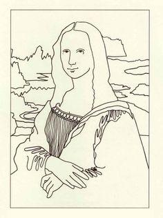 enchanted learning :da vinci: mona lisa coloring page   leonardo ... - Mona Lisa Coloring Page Printable