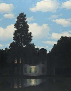 """René Magritte : """"The Dominion of Light"""", 1954. Brussels, Royal Museums of Fine Arts of Belgium, inv. 6715 — © Charly Herscovici, with his kind authorization c/o SABAM, Belgium. RMFAB, photo : J. Geleyns / Ro scan"""