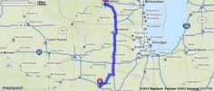 Driving Directions from Peoria, Illinois to Madison, Wisconsin | MapQuest two places I have loved living.