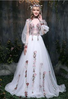 079c4678d62 Rococo-Inspired Forest Berries Court Gown with Sexy Sheer Elements. Платья  Эпохи ...