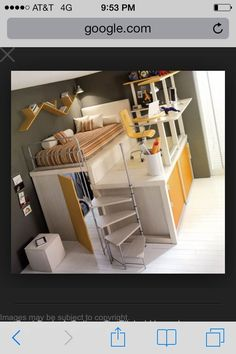 Cool loft bed I've been looking for this pic I found a while ago! I love the closet underneath!