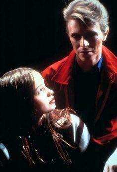 David Bowie and Natja Brunckhorst on Christiane F. (1981) .