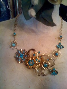 Custom broach necklace I find the vintage by amyjomcguigan on Etsy, $150.00