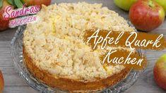 Apfel-Quark Kuchen - Rezept von Sandras Backideen Cheese, Form, Youtube, Foodblogger, Youtube Movies