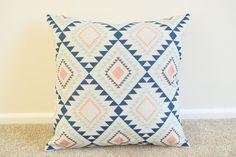 "Pastel Shades Geometric/Scandinavian/Aztec Cotton Linen Cushion/Pillow Cover in 18 x 18"" by simplyskandi on Etsy https://www.etsy.com/uk/listing/398666917/pastel-shades-geometricscandinavianaztec"