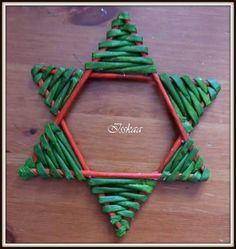 tutorial stea decorativa / decorating star tutorial