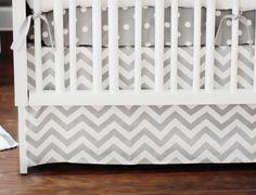 New Arrivals Zig Zag 2 Piece Baby Crib Bedding Set Grey Http