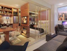 Studio - Living  Espaços inteligentes para um novo jeito de viver bem. Hyper Home e Design - Alto da Boa Vista