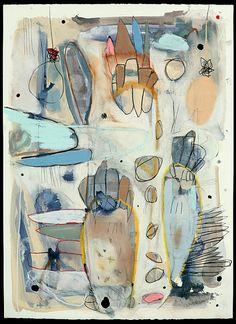 "Riptide by Alexis K Manheim - 30x22"" Pastel, Ink, Graphite, Gouache, Acrylic on Paper. http://www.alexismanheim.com/ #mixed_media"