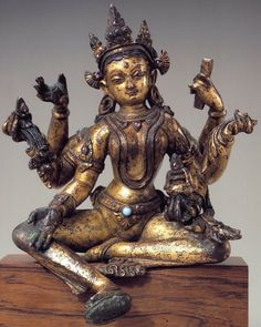 Vasudhara. 1100-1199 Nepal. Vasudhara, a Buddhist Goddess of prosperity and harvest. She is closely linked with Jambhala another important god of wealth. Vasudhara has many forms and is also depicted as the consort of Jambhala.