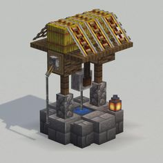 Round base and sloped roof on a well - DetailCraft - Explore the best and the special ideas about Minecraft Skins Minecraft Hack, Minecraft Farmen, Construction Minecraft, Minecraft Welten, Minecraft Building Guide, Easy Minecraft Houses, Minecraft House Tutorials, Amazing Minecraft, Minecraft Decorations