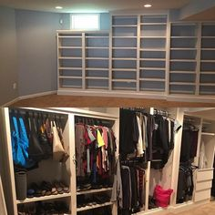 DIY Monday! 🔥Turn Your Bookshelves Into A California Closet By Installing  Clothing Rods.