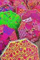 Umbrellas outside a shop, Jaipur, Rajasthan, India | Blaine Harrington III