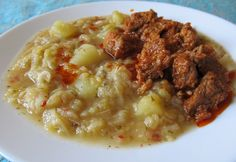 Hungarian Recipes, Hungarian Food, Eat Pray Love, Cheeseburger Chowder, My Recipes, Risotto, Oatmeal, Food And Drink, Chicken